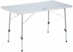 10T Flaprack Double Table de camping pliant Blanc/Argent 120 x 60 x 69 cm de la marque 10T image 0 produit