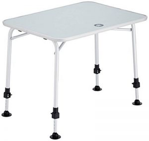 10T Flaprack Single Table de camping Blanc/Argent 80 x 60 x 55/75 cm de la marque 10T image 0 produit