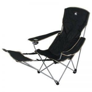 10T Quickfold Plus Chaise de camping pliant léger et stable avec repose-pied Noir/Beige de la marque 10T image 0 produit