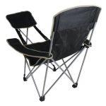10T Quickfold Plus Chaise de camping pliant léger et stable avec repose-pied Noir/Beige de la marque 10T image 4 produit