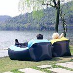 210T Portable étanche Polyester Air Sofa gonflable Lounger, Air Canapé, sofa gonflable, Air lit plage chaise longue pour voyageurs, Camping, Parc, Jardin de la marque Lufey image 4 produit