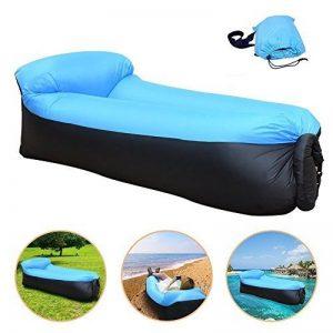 210T Portable étanche Polyester Air Sofa gonflable Lounger, Air Canapé, sofa gonflable, Air lit plage chaise longue pour voyageurs, Camping, Parc, Jardin de la marque Lufey image 0 produit