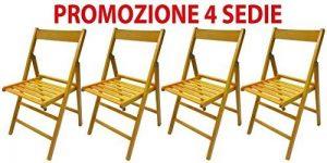 4chaises pliante chaise brasserie en bois jaune pliable pour Camping Maison de la marque Savino Fiorenzo image 0 produit