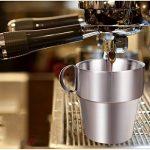 A-SZCXTOP Set de 4 tasses à café en acier inoxydable Double-couche isolée tasses à café avec un support et un sac ... de la marque A-SZCXTOP image 1 produit