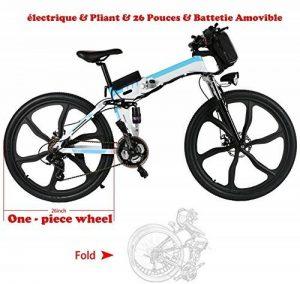 aceshin Vélo Homme électrique pliable 26 Vélo 250W 36V Grande Capacité 200KG Phare Avant VTT Montagne Adulte Pliable de la marque aceshin image 0 produit