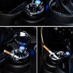 AD 19401Cendrier Cigarette Cendrier anti-vent–Cendrier avec couvercle et LED bleue avec 2étagères, même suppression et réduction odeurs pour voiture, camion, camping-car, bateau, chaise de camping, balcon, terrasse ou sur pied pour chaque Table de jar image 3 produit