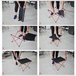 Aidoxi Table de Camping, Ultra-léger Table Pliable Compact au Rangement, Assemblage Rapide et Facile, Alliage D'aluminium De Haute Qualité (Silver) de la marque Aidoxi image 3 produit
