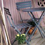 Alessia ensemble bistrot - GRIS | Table pliante noire avec chaises assorties de la marque Lazy Susan image 1 produit