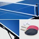 Alice's Garden - Mini table de ping pong 150x75cm - table pliable INDOOR bleue, avec 2 raquettes et 3 balles, valise de jeu pour utilisation intérieure, sport tennis de table de la marque Alice's Garden image 3 produit