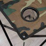 AMANKA Table de Camping + 4 Chaises + Sac de Transport 60x22x24cm | pliant léger petit portable | pour pique-nique festival grillade randonnée pêche parc | Camouflage Vert de la marque AMANKA image 5 produit