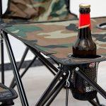 AMANKA Table de Camping + 4 Chaises + Sac de Transport 60x22x24cm | pliant léger petit portable | pour pique-nique festival grillade randonnée pêche parc | Camouflage Vert de la marque AMANKA image 6 produit