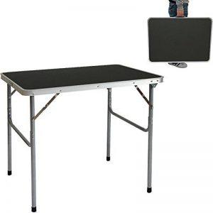 AMANKA Table de camping pique-nique foire aux puces 80x60x70cm en acier 3Kg pliant format mallette Gris Foncé de la marque AMANKA image 0 produit