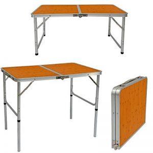 AMANKA Table de Camping Portable 3kg Pliante en mallette pour pique-nique plage jardin 90x60cm réglable en hauteur en aluminium Gris de la marque AMANKA image 0 produit