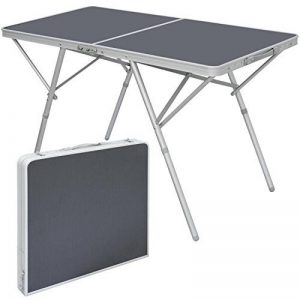 AMANKA Table Pliante 120x60x70cm meuble de camping pique-nique portable stable châssis en alu plateau en MDF Anthracite de la marque AMANKA image 0 produit