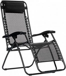 AmazonBasics Chaise de camping pliable zéro gravité Noir de la marque AmazonBasics image 0 produit