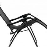 AmazonBasics Chaise de camping pliable zéro gravité Noir de la marque AmazonBasics image 1 produit