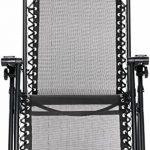 AmazonBasics Chaise de camping pliable zéro gravité Noir de la marque AmazonBasics image 2 produit