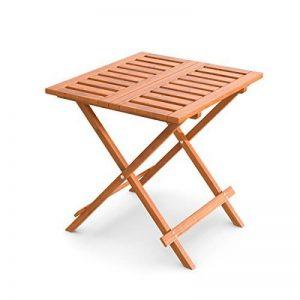 Ampel 24 Table d'appoint pliante pour jardin, balcon, terrasse ou intèrieur | bois prétraité | 50 x 50 cm | table de jardin en bois de mélèze de la marque Ampel 24 image 0 produit