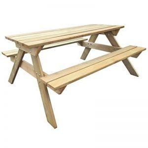 Anself Table de pique-nique en bois 150 x 135 x 71,5 cm de la marque Anself image 0 produit
