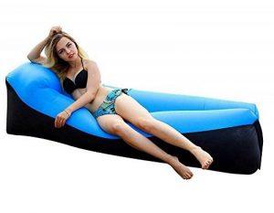 AVNTEN 210T Portable Air Sofa,Hamac Gonflable avec oreiller intégré,étanche Polyester chaise longue gonflable,pouf gonflable exterieur pour voyageurs,piscine,Camping,parc,plage,jardin de la marque Amazla image 0 produit