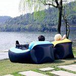 AVNTEN 210T Portable Air Sofa,Hamac Gonflable avec oreiller intégré,étanche Polyester chaise longue gonflable,pouf gonflable exterieur pour voyageurs,piscine,Camping,parc,plage,jardin de la marque Amazla image 2 produit
