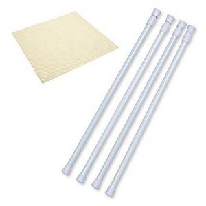 Barres d'armoires Danily, 4 tiges à ressorts réglables, 40 à 70 cm, blanches, avec revêtement antidérapant de la marque Danily image 0 produit