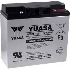 Batterie de remplacement YUASA pour chariot de golf, chaises roulantes électriques, caravanes de camping, Scooters électriques 12V 22Ah cycle stable, 12V, Lead-Acid [ Batterie au plomb ] de la marque Batterie-Fr image 0 produit