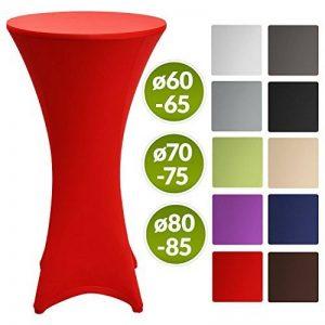 Beautissu Housse de table de bistrot - Mange debout - Deco Cocktail - Stretch spandex - Stella - 80-85cm - Rouge de la marque Beautissu image 0 produit