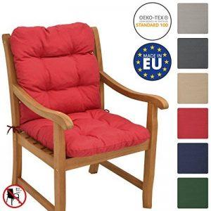 Beautissu Matelas Coussin pour chaise fauteuil de jardin terrasse Flair NL 100x50x8cm - Rouge de la marque Beautissu image 0 produit