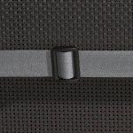 Beautissu Matelas Coussin pour chaise fauteuil de jardin terrasse Loft HL 120x50x6cm - dossier haut - Gris graphite de la marque Beautissu image 4 produit