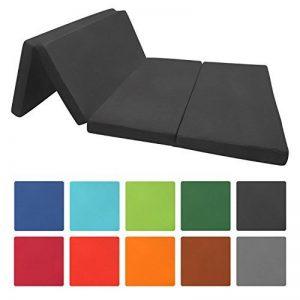 Beautissu Matelas pliant d'appoint Campix - Pouf pliable - 120 x 195 cm - Confortable lit d'invité - Futon - Noir de la marque Beautissu image 0 produit