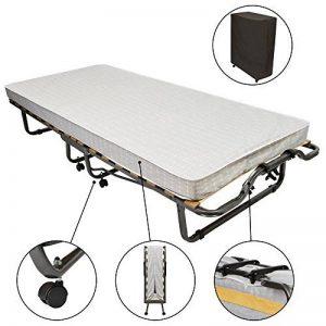 Beautissu Venetia - Confortable lit d'appoint, invité - pliant + roulettes + housse de protection - 80x200cm de la marque Beautissu image 0 produit