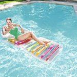 Bestway Matelas gonflable pliant, fauteuil et chaise longue plage High Fashion, 201 x 89 cm de la marque Bestway image 1 produit