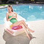 Bestway Matelas gonflable pliant, fauteuil et chaise longue plage High Fashion, 201 x 89 cm de la marque Bestway image 3 produit