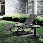 Blumfeldt Daybreak Chaise longue à bascule lounge (effet de balancement, cadre en aluminium solide et léger, accoudoirs, charge maximale de 100 kg) - chocolat de la marque Blumfeldt image 1 produit