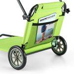 Blumfeldt Maritimo - Chaise longue Bain de soleil sur roulettes (pliable, filet de rangement arrière, parasol) - vert de la marque Blumfeldt image 4 produit