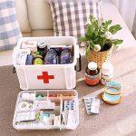 Boîte de rangement médical à double couche Coffre, BAFFECT® Boîte en plastique pour sacs à main en sachet en plastique de la marque Baffect image 1 produit