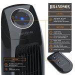 Brandson - Ventilateur colonne avec télécommande | Ventilateur sur pied oscillant | 60W | 3 niveaux de vitesse (LOW / MEDIUM / HIGH) + minuterie + 3 modes de fonctionnement + oscillation 60 ° commutable | Ecran LED | Noir de la marque Brandson image 2 produit
