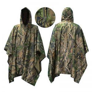 Camo Rain Jacket, Vaxiuja Rain Poncho imperméable Multifonctions Outdoor Militaire Jungle Camouflage Tactique Portable Urgence de la marque Vaxiuja image 0 produit