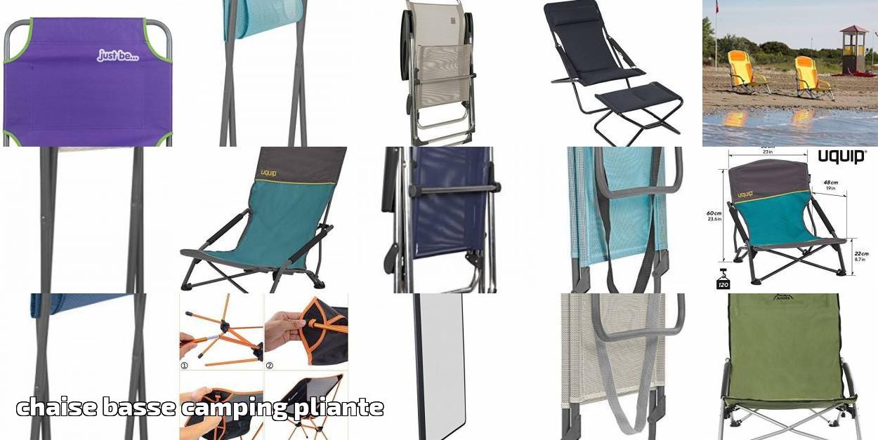 Chaise Basse Camping Pliante Faites Une Affaire Pour 2019