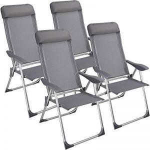 Chaise camping pliante avec coussin Aluminium Meuble Chaises pliantes exterieure jardin (lot de 4) de la marque Deuba image 0 produit