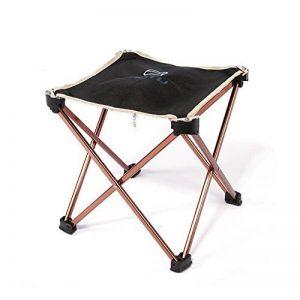 Chaise de Camping Chaise Pliante en Alliage d'aluminium Portable - Noir - Non Fauteuil - 25 * 23 * 23CM (H x L x W) de la marque Chrasy image 0 produit