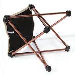 Chaise de Camping Chaise Pliante en Alliage d'aluminium Portable - Noir - Non Fauteuil - 25 * 23 * 23CM (H x L x W) de la marque Chrasy image 3 produit