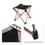 Chaise de Camping Chaise Pliante en Alliage d'aluminium Portable - Noir - Non Fauteuil - 25 * 23 * 23CM (H x L x W) de la marque Chrasy image 4 produit