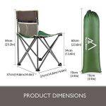 Chaise de Camping Pliable Terra Hiker, Chaise de Pêche Plage avec Sacoche Ventilée, Sac de Transport Inclus de la marque Terra Hiker image 3 produit