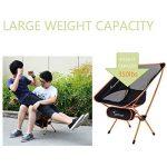 Chaise de Camping Pliante, Sportneer® Portable Léger Pliable Camping Chaise pour Backpacking/ Randonnée/ Pique-nique/ Pêche / Plage / Jardin (Charge de Poids 158kg) de la marque Sportneer image 2 produit