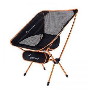 Chaise de Camping Pliante, Sportneer® Portable Léger Pliable Camping Chaise pour Backpacking/ Randonnée/ Pique-nique/ Pêche / Plage / Jardin (Charge de Poids 158kg) de la marque Sportneer image 0 produit