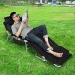 Chaise de jardin inclinable et pliante SoBuy Textoline - Camping de la marque SoBuy image 4 produit