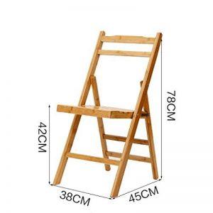 chaise pliante Bambou chaise pliante portable bambou chaise tabouret chaise de pêche chaise pliante chaise de bureau chaise de loisirs ( Couleur : A ) de la marque Popa image 0 produit