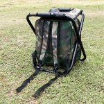 Chaise pliante de refroidisseur de sac à dos - tabouret portatif de camping avec le sac isolé de pique-nique - sac de Tableau de Seat de camouflage Équipement de camping pour le voyage extérieur, la randonnée, la pêche, la plage, le BBQ, la maison et la s image 3 produit